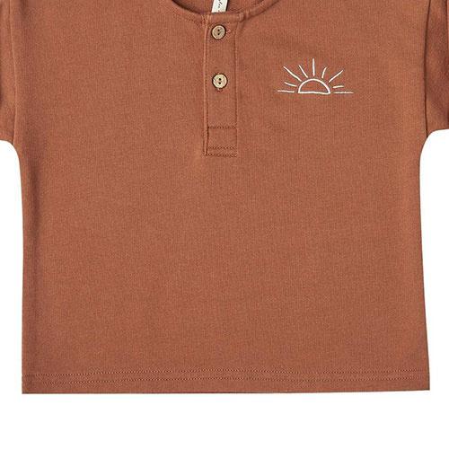 Rylee + Cru sunrise terry henley amber (shirt)-3