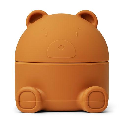 Liewood Murphy treasure box Mr bear mustard (bewaardoosje)-1