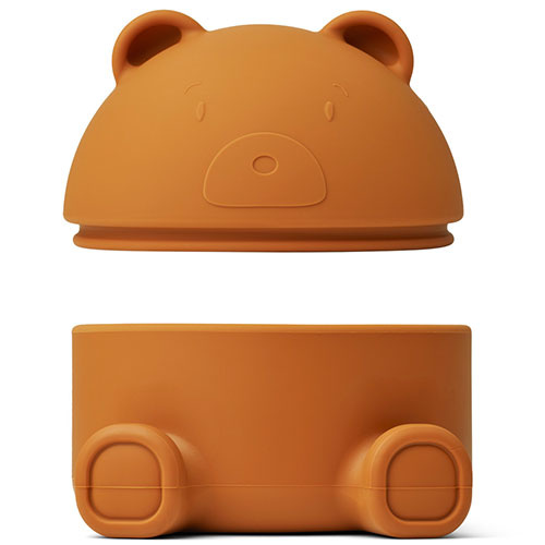 Liewood Murphy treasure box Mr bear mustard (bewaardoosje)-3