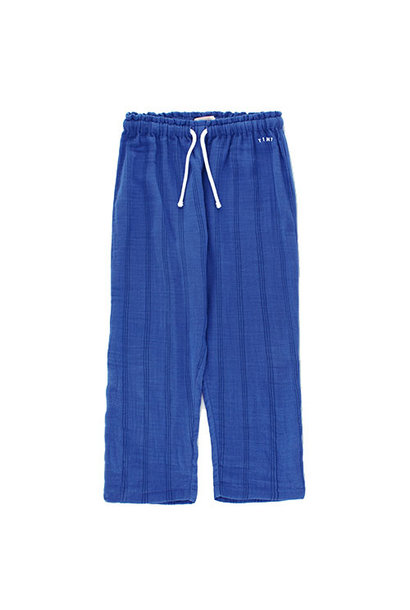 Tinycottons Stripes Straight Pant iris blue/ink blue (broek)