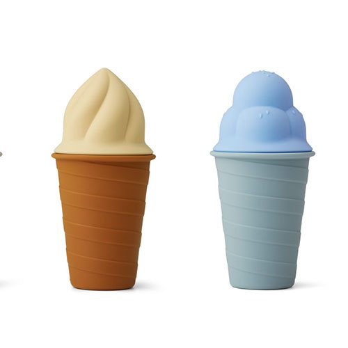 Liewood Bay ice cream toy 4-pack Sky blue multi mix (seelgoed ijsjes)-4