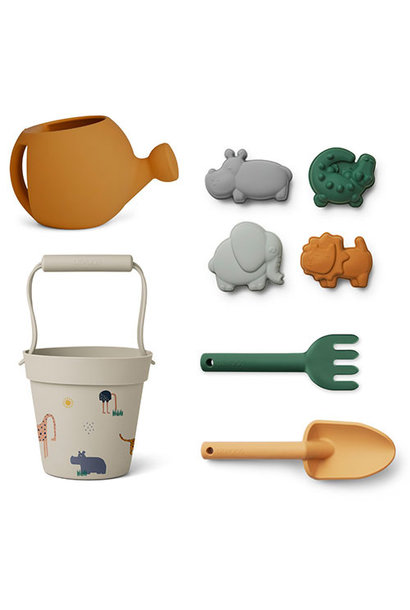 Liewood Florence beach & garden set Safari sandy multi mix (strand set)