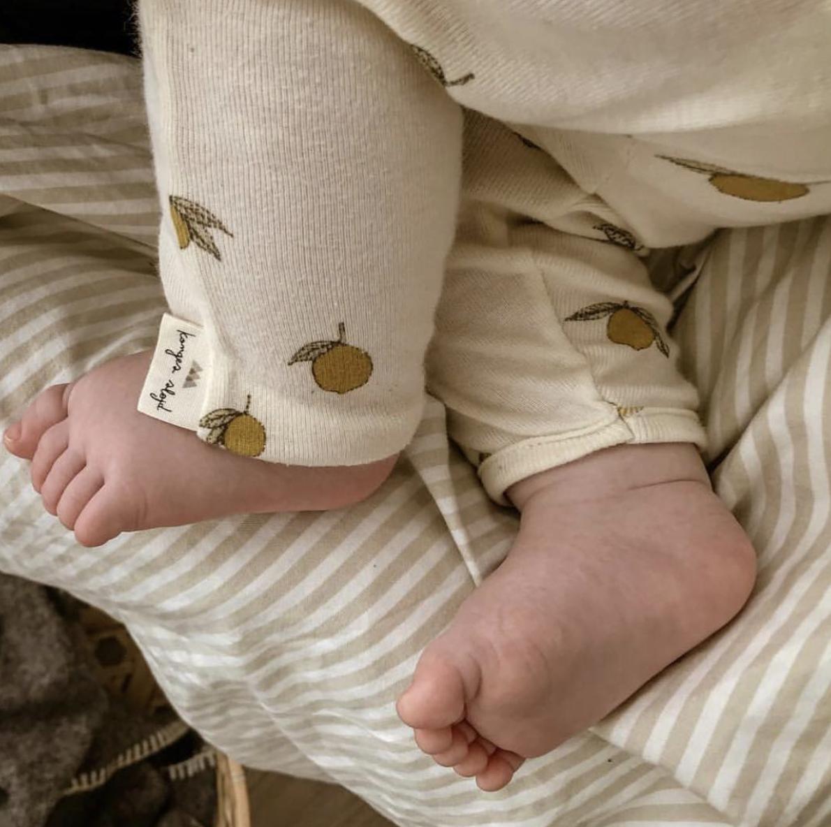 Konges Slojd New Born Pants Lemon (Broek)-2