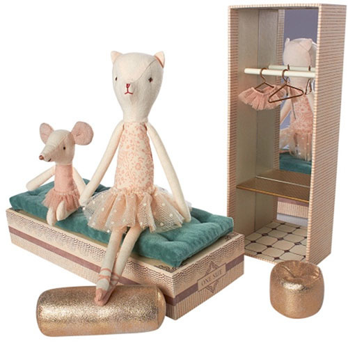 Maileg Dancing Cat and Mouse in Shoebox (speelgoedset)-3