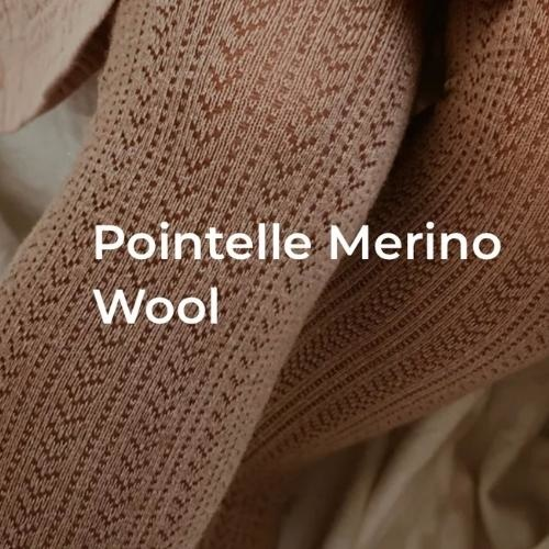 Collegien Angelique Tights - Collants en laine Merinos et maille ajouree Pierre de Volvic (maillot)-3