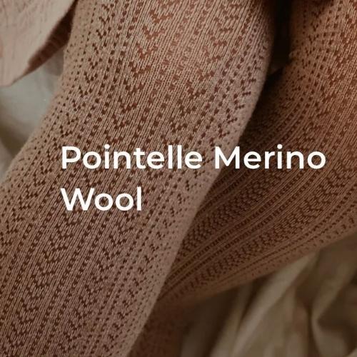 Collegien Angelique Tights - Collants en laine Merinos et maille ajouree Fleur de Lavande (maillot)-2