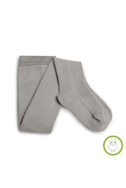 Collegien Angelique Tights - Collants en laine Merinos et maille ajouree Jour de Pluie (maillot)