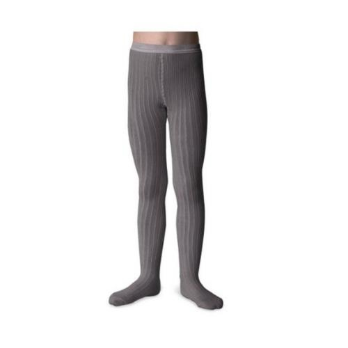 Collegien Louise Tights - Collants  unis a cotes Gris Galet (maillot)-2