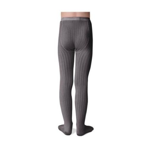 Collegien Louise Tights - Collants  unis a cotes Gris Galet (maillot)-3