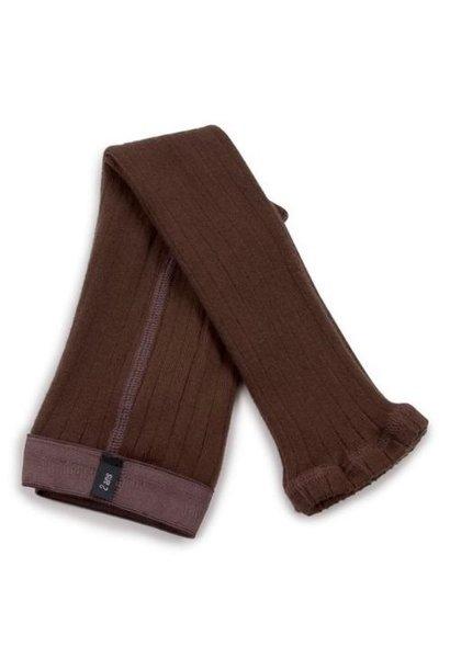 Collegien Maxence Ribbed Tights - Collants a cotes sans pied Chocolat au lait (legging)