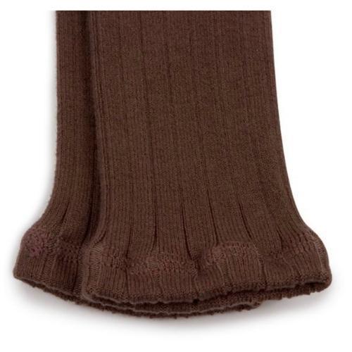 Collegien Maxence Ribbed Tights - Collants a cotes sans pied Chocolat au lait (legging)-2