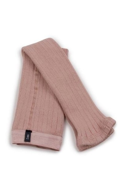 Collegien Maxence Ribbed Tights - Collants a cotes sans pied Vieux Rose (legging)