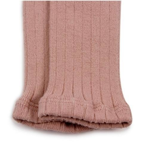 Collegien Maxence Ribbed Tights - Collants a cotes sans pied Vieux Rose (legging)-2