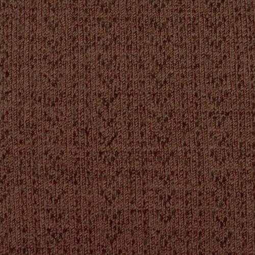 Collegien Adele - Chaussettes hautes laine Merinos maille ajouree Chocolat au lait (kniekousen)-3