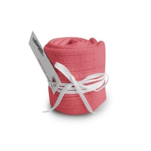 Collegien La Haute - Chaussettes hautes a cotes Rose Litchi (kniekousen)-3