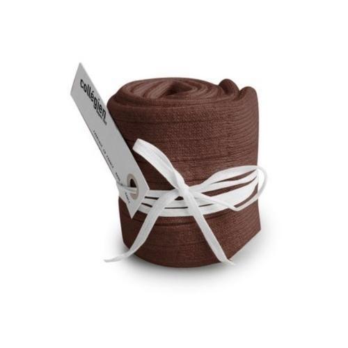 Collegien La Haute - Chaussettes hautes a cotes Chocolat au lait (kniekousen)-3