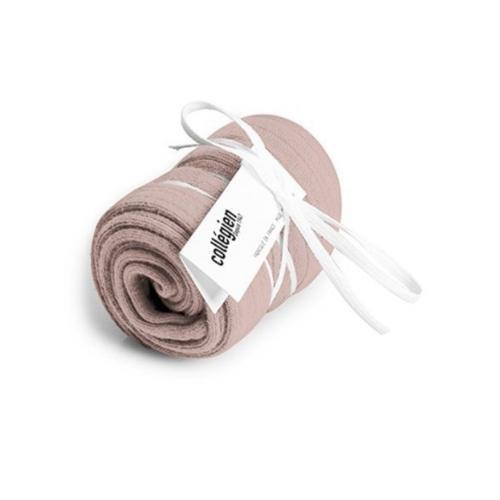 Collegien La Haute - Chaussettes hautes a cotes Vieux Rose (kniekousen)-3