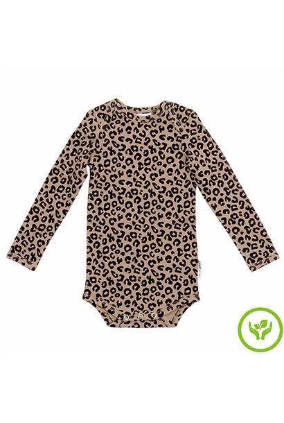 maed for mini Brown Leopard AOP Romper Body