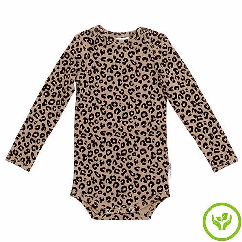 maed for mini Brown Leopard AOP Romper Body-1