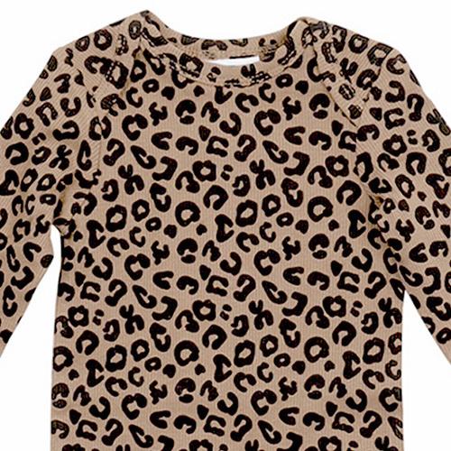 maed for mini Brown Leopard AOP Romper Body-6