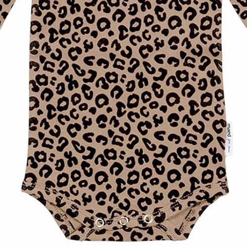 maed for mini Brown Leopard AOP Romper Body-7