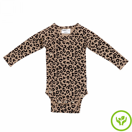 maed for mini Brown Leopard AOP Wrap Body Romper-1