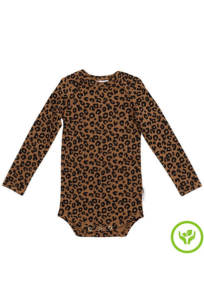 maed for mini Chocolate leopard AOP Romper Body