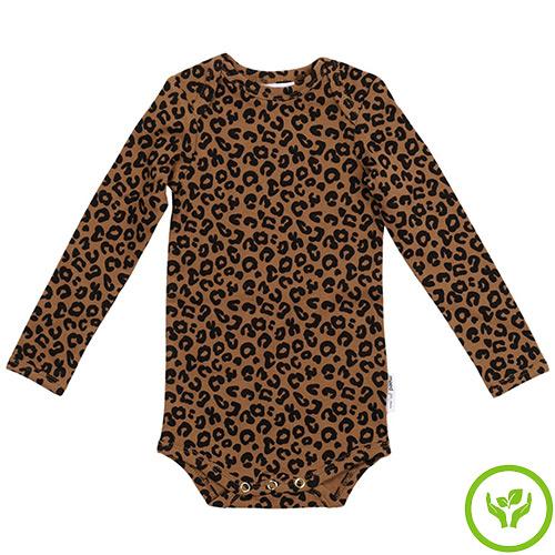 maed for mini Chocolate leopard AOP Romper Body-1