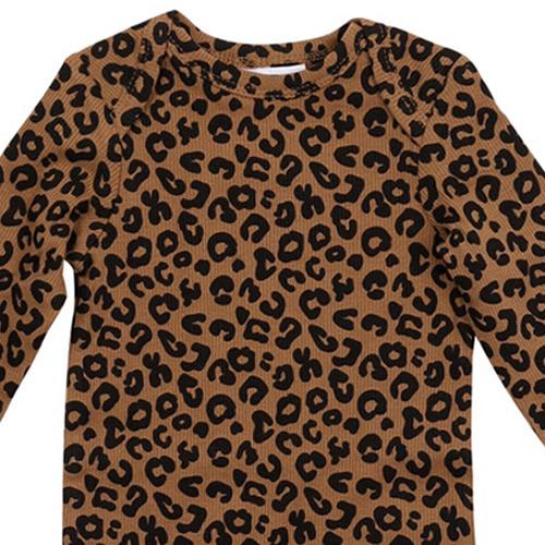 maed for mini Chocolate leopard AOP Romper Body-4