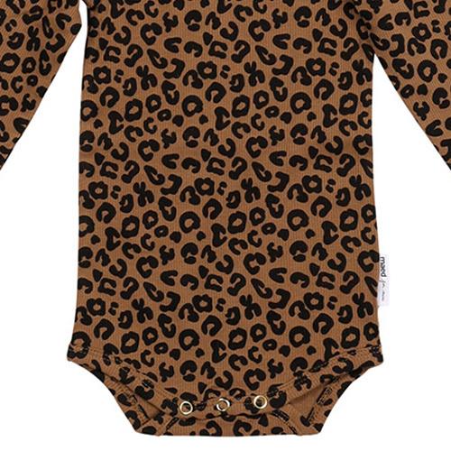 maed for mini Chocolate leopard AOP Romper Body-5