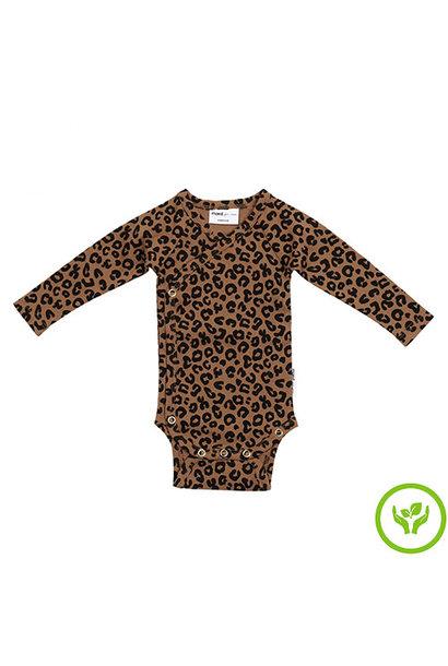 maed for mini Chocolate leopard AOP Wrap body Romper