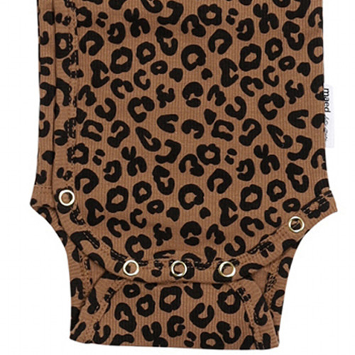 maed for mini Chocolate leopard AOP Wrap body Romper-4