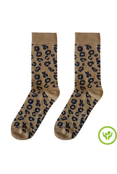 maed for mini Brown Leopard AOP Mama socks