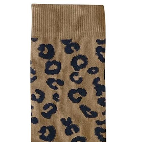 maed for mini Brown Leopard AOP Mama socks-3