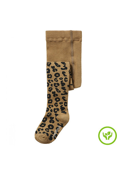 maed for mini Brown Leopard AOP Tights Maillot