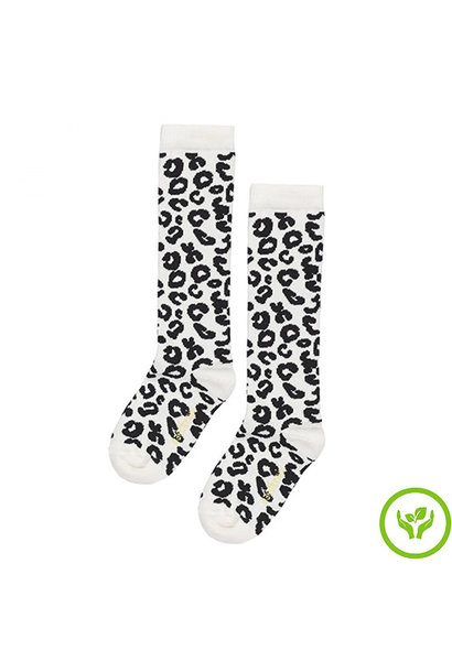 maed for mini White Leopard AOP Knee Socks