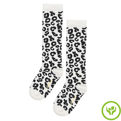 maed for mini White Leopard AOP Knee Socks-1