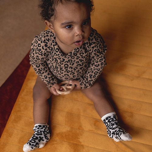 maed for mini White Leopard AOP Knee Socks-5