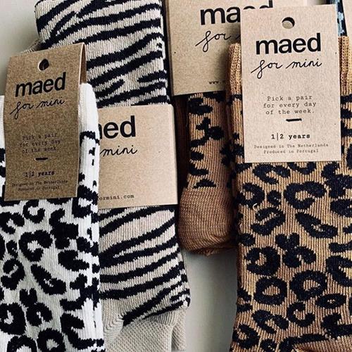 maed for mini White Leopard AOP Knee Socks-8