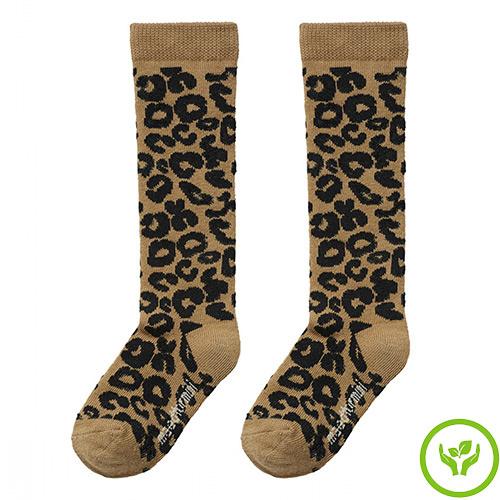maed for mini Brown Leopard AOP Knee Socks-1