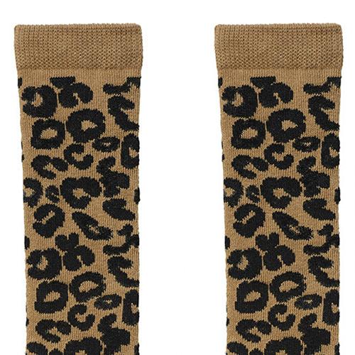maed for mini Brown Leopard AOP Knee Socks-7