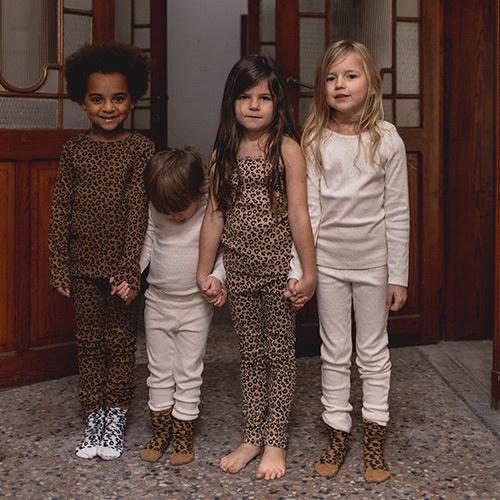 maed for mini Brown Leopard AOP Knee Socks-4