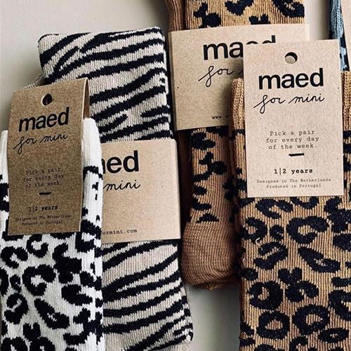 maed for mini Brown Leopard AOP Knee Socks-5