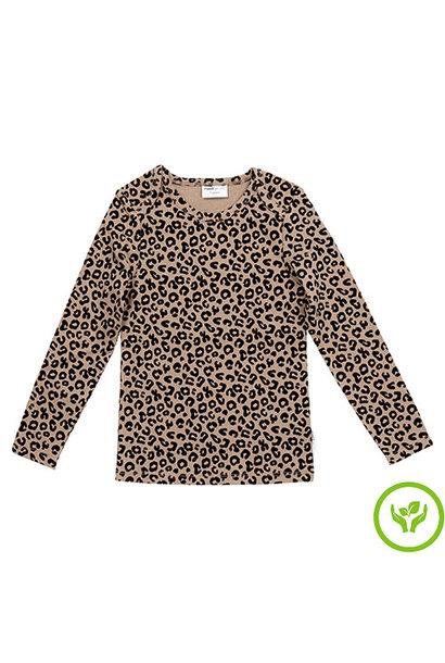 maed for mini Brown Leopard AOP Longsleeve Shirt