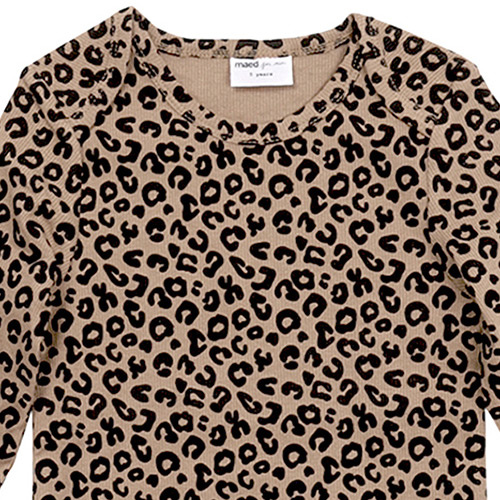 maed for mini Brown Leopard AOP Longsleeve Shirt-5