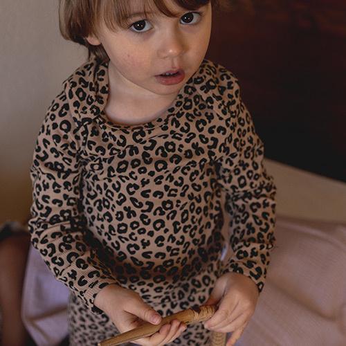 maed for mini Brown Leopard AOP Longsleeve Shirt-2