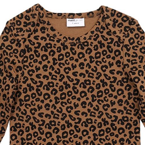 maed for mini Chocolate leopard AOP Longsleeve Shirt-6