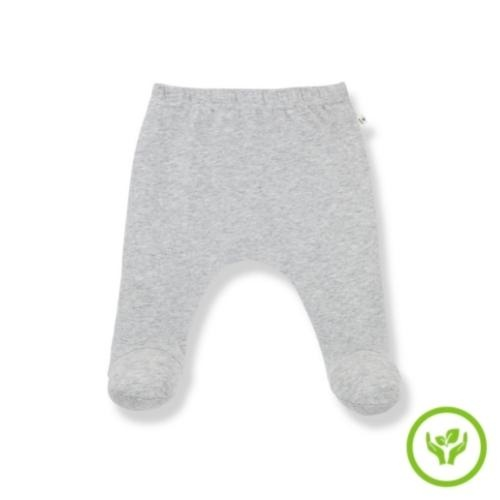 1+ in the family newborn lua leggings w/feet organic plain jersey grey (broek)-1