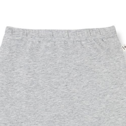 1+ in the family newborn lua leggings w/feet organic plain jersey grey (broek)-3