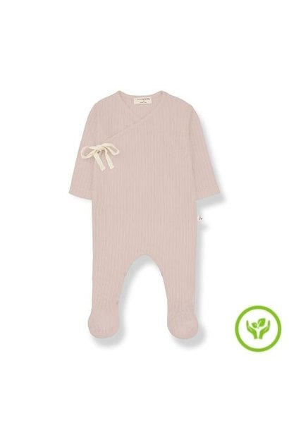 1+ in the family newborn sonia jumpsuit organic lace knitting nude (romper)